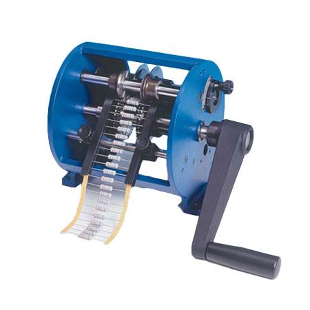 Máquina para doblar componentes axiales y radiales